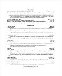 Free Resume Templates Computer Science Free Resume Templates