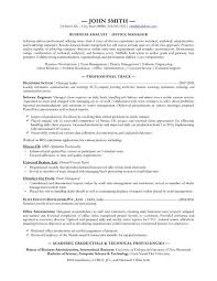 Business Analyst Resume Samples Sarahepps Com