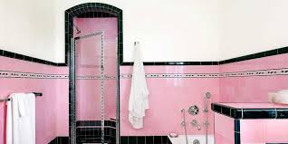 1930s Bathroom Design Bathroom With Colorful Tile 1930s Bathroom Design