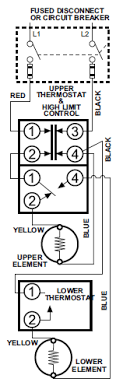 rheem water heater thermostat wiring 240v Water Heater Wiring Diagram Double Element Hot