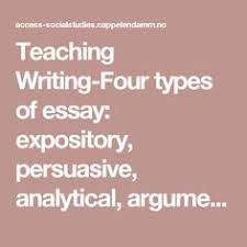 essay sample narrative sample essay sample why this college teaching writing four types of essay expository persuasive analytical argumentative