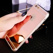 iphone 7 plus rose gold. mirror iphone 7/7 plus silicone case - rose gold iphone 7