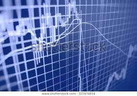 Stock Exchange Graph Screen Profit Goal Royalty Free Stock