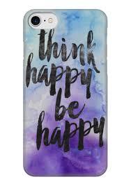 Чехол для iPhone 7 глянцевый Think happy be happy #1833905 в ...