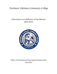 northeast alabama munity college information on fulfillment of the mission 2016 2016 office of insutional planning and essment july 2016 northeast