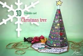 Printable Christmas Tree 3d Christmas Tree Card Printable Alpha Mom