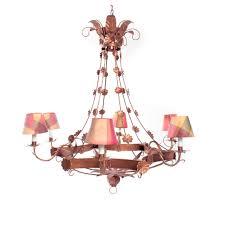 vintage italian style copper finish tole chandelier