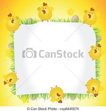 chicken border clip art. Exellent Art Illustration Of Easter Chicken  Clipart Inside Chicken Border Clip Art N