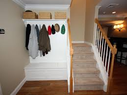 Hallway Seat And Coat Rack Decorating Entryway Bench with Coat Rack Three Dimensions Lab 51