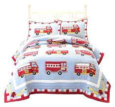 toddler twin bed set kids bedding sheets trains airplanes fire trucks