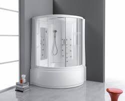 built in bathtub shower combination corner composite whirlpool clizia