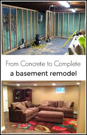 Basement Makeover From Concrete to Complete Remodel