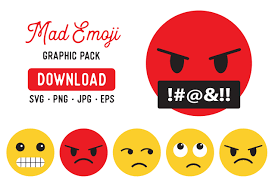 These apple emojis are fun to use, so. Angry Emoji Clipart Graphic Bundle Graphic By The Gradient Fox Creative Fabrica