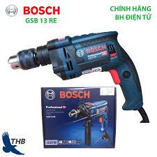 Máy khoan đa năng Máy khoan động lực Bosch GSB 13 RE Xuất xứ Malaysia Công  suất 600W Bảo hành điện tử 12 tháng giá rẻ 1.418.000₫
