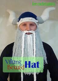 Beard Hat Crochet Pattern Adorable Crochet Viking Hat With Beard Free Pattern Video Tutorial