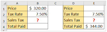 7 5 Sales Tax Chart How To Calculate Sales Tax In Excel