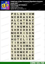 I printed this page, cut out the table containing the nato phonetic alphabet (below), and taped it to the side of my computer monitor when i was a call center help desk technician. Codycross Paris Group 247 Puzzle 4 Answers Game Solver