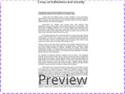 essay on truthfulness and sincerity homework writing service essay on truthfulness and sincerity essay on truthfulness and sincerity posted by no comments