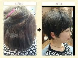 強いくせ毛を生かした髪型は女性でもできる