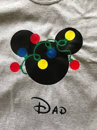 Mickey Christmas Lights Mickey Christmas Lights Shirt Mickey Head Lights Disney
