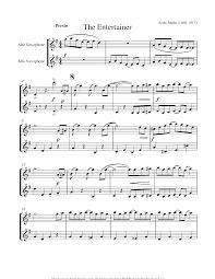 Alto saxophone duet the entertainer sheet music 8notes com. Scott Joplin The Entertainer Sheet Music For Alto Saxophone Duet 8notes Com