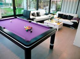 Pool And Dining Table Adorable Black Pool Tables That Can Be Combined With Purple Color