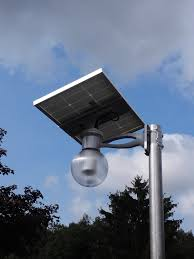 Pole Mounted Solar Light Solar Led Courtyard Light Motion Activated 1200 Lumens To