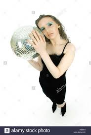 woman holding mirror. Delighful Woman Young Woman Holding Mirror Ball And Woman Holding Mirror