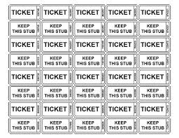 Template For A Raffle Ticket Printable Raffle Ticket Template Vastuuonminun