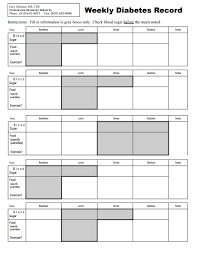 Chart To Record Blood Sugar Levels Diabetes Blood Sugar Level Chart Templates Brand Stem