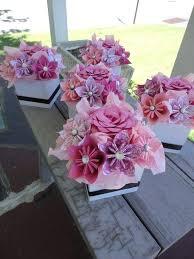 Paper Flower Centerpieces At Wedding Paper Centerpieces For Tables Paper Centerpieces For Tables