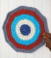 diy crochet rug with t shirt yarn