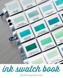 Complete Ink Swatch Book Downloads Jennifer Mcguire Ink