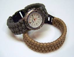 picture of woven paracord bracelet watchband