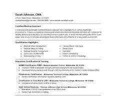 Certified Medical Assistant Resume Delectable Resume Template Medical Assistant Resume Example Sample Resume