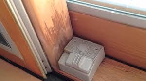 PELLA DOORS POOR PERFORMANCE YouTube - Exterior lock for sliding glass door