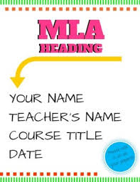 heading for mla format mla format heading poster by korzies class teachers pay teachers