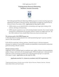 Undergraduate Research Mentoring Northern Arizona University