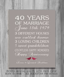 40th wedding anniversary gifts for husband 54 best 40th anniversary party images on