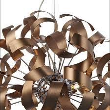 Copper Ribbon Light Brushed Copper Ribbon 9 Light Pendant In Larbert Falkirk Gumtree