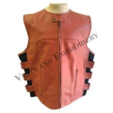 orange leather tactical bullet proof style vest