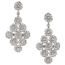 tiffany co 4 15 carat diamond platinum dangle chandelier earrings
