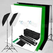 excelvan 125w studio softbox continuous lighting kit shlp 0125 3 backdrop background stand