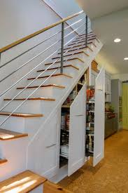 pin under the stairs slide out pantry