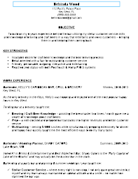 Gallery Of Bartender Resume Format