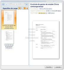 formato curriculo word como fazer um curriculum vitae com o microsoft word 2007 como