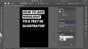 How To Add Highlight To A Text In Illustrator