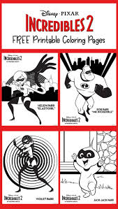 Check out this massive collection of free disney coloring pages. Free Incredibles 2 Printable Coloring Pages