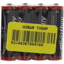 <b>Батарейки</b> AA <b>Smartbuy</b> Super Heavy Duty <b>R6</b> / 4S 4 шт. — купить ...