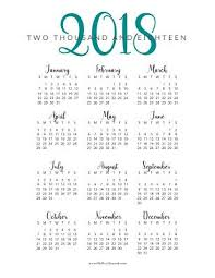 At A Glance Yearly Calendars Free Printable 2018 Year At A Glance Calendar Oh Hey
